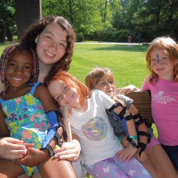 staff and kids